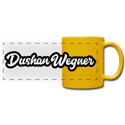 Dushan Wegner (Schriftzug) - Panoramatasse farbig