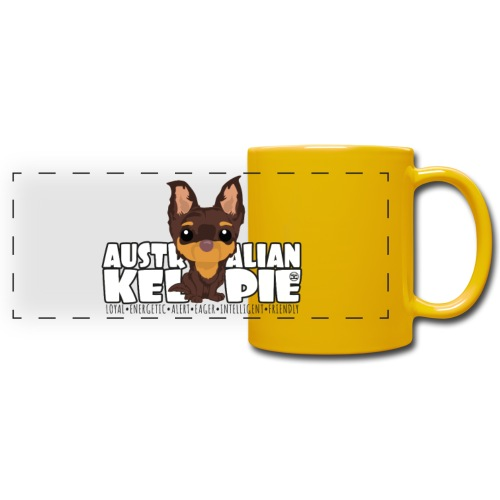 Kelpie - DGBigHead | mug - Full Color Panoramic Mug