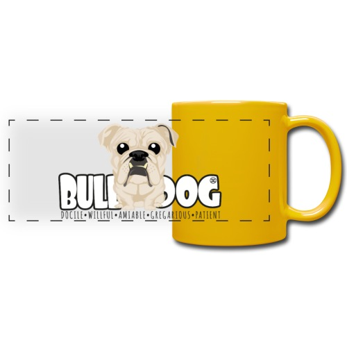 Bulldog - DGBighead (Fawn) - Full Color Panoramic Mug