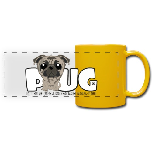 Pug - DGBigHead | Mug - Full Color Panoramic Mug