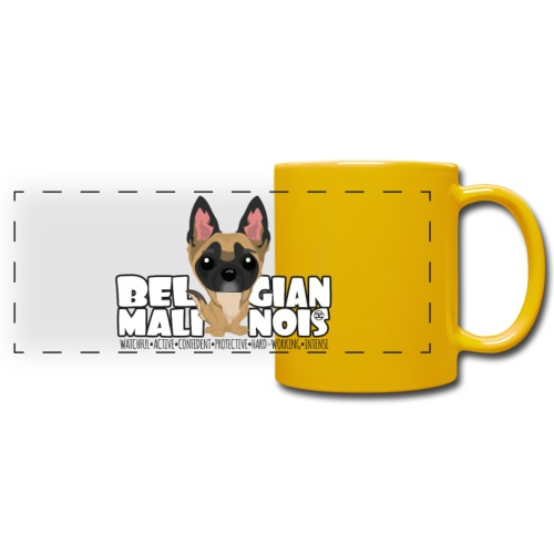 Belgian Malinois - DGBighead | mug - Full Color Panoramic Mug