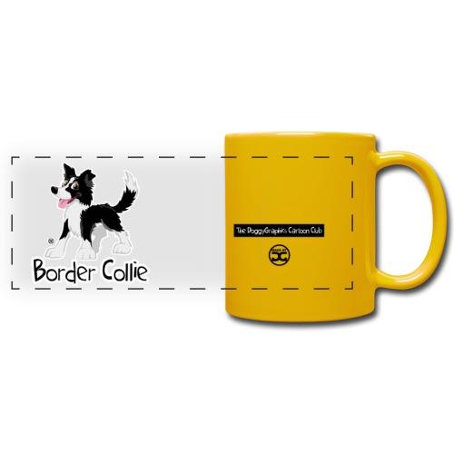 CartoonClub BorderCollie (Black & White) | mug - Full Color Panoramic Mug