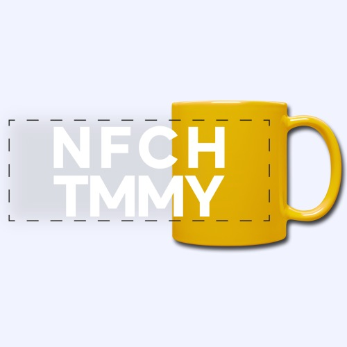 Einfach Tommy / NFCHTMMY / White Font - Panoramatasse farbig