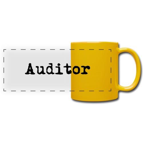 auditor typewriter black - Panoramatasse farbig
