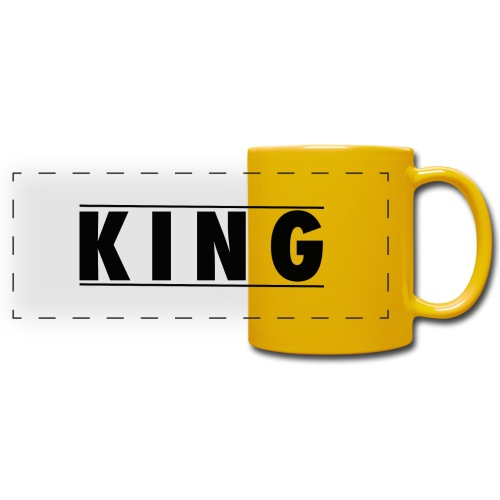 Tasse - King and Queen - Panoramatasse farbig