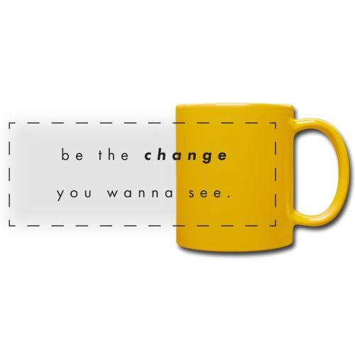 Be the change - Färgad panoramamugg