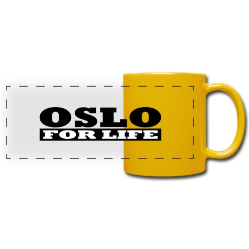 Oslo fürs Leben - Panoramatasse farbig