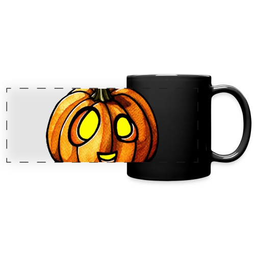 Pumpkin Halloween watercolor scribblesirii - Panoramatasse farbig