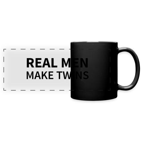 Real Men make Twins - Panoramatasse farbig
