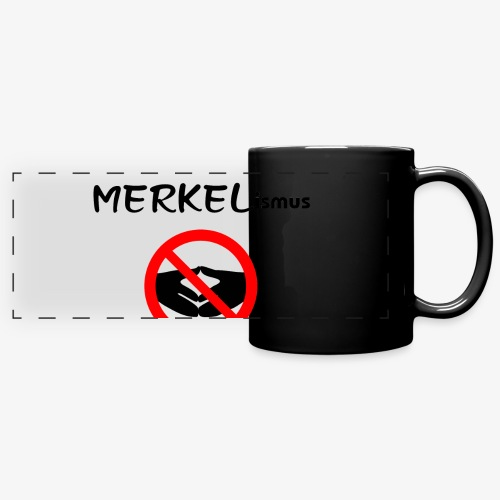 NEIN zum MERKELismus - Panoramatasse farbig