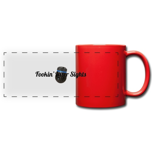 'Fookin' Laser Sights' - Full Colour Panoramic Mug