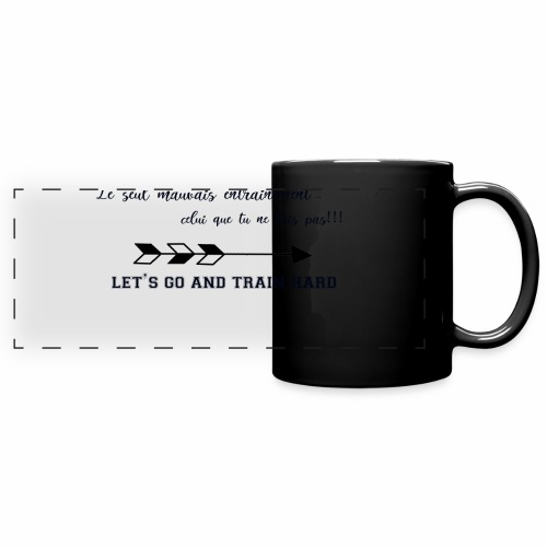 train hard - Mug panoramique uni