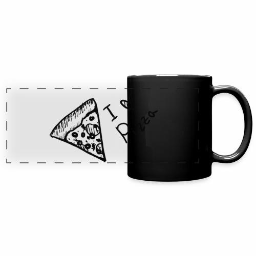 I LOVE PIZZA - Panoramatasse farbig