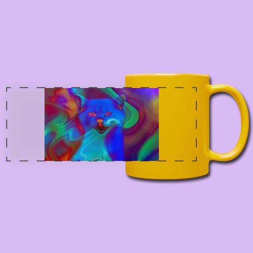 Gattino con effetti neon surreali - Tazza colorata con vista