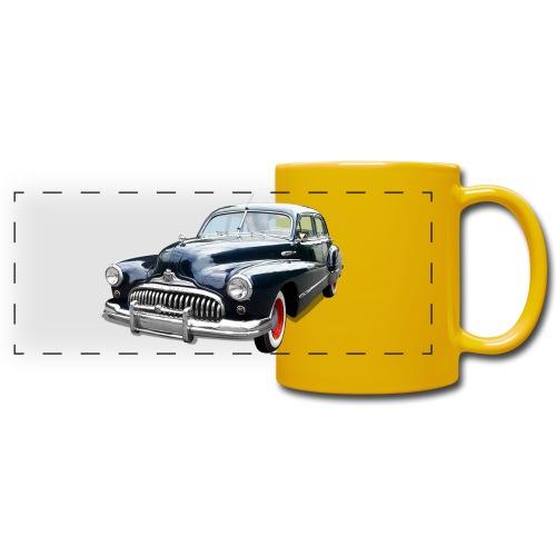 Classic Car. Buick zwart. - Panoramamok gekleurd