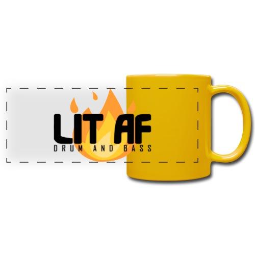 LIT AF Drum and Bass - Panoramatasse farbig