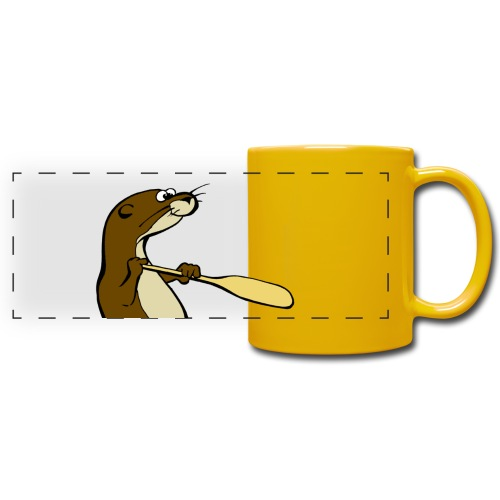 Classic Song of the Paddle otter logo - Full Colour Panoramic Mug