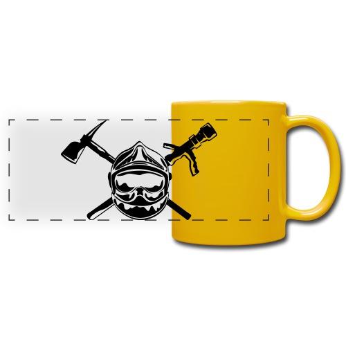 casque_pompier_hache et lance - Mug panoramique uni