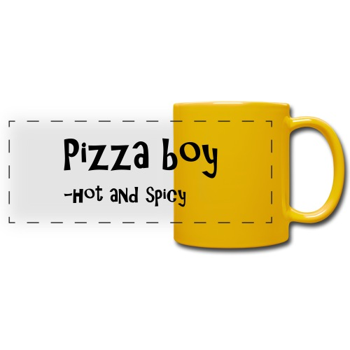 Pizza boy - Panoramakopp i farge