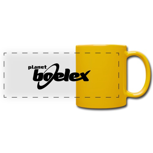 Planet Boelex logo black - Full Color Panoramic Mug