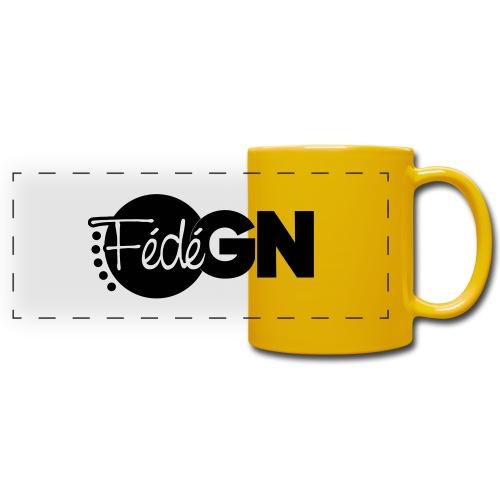 Logo FédéGN pantone - Mug panoramique uni
