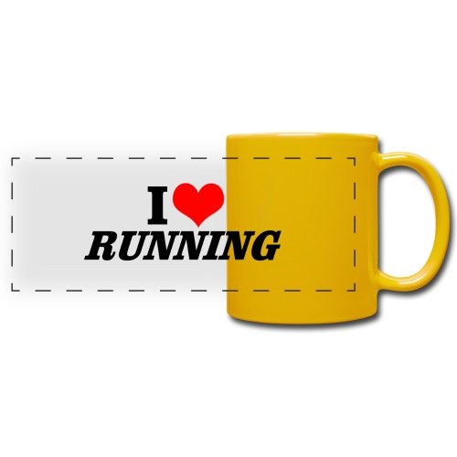 I love running - Panoramatasse farbig