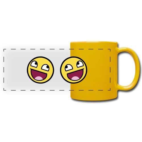 Boxers lolface 300 fixed gif - Full Colour Panoramic Mug