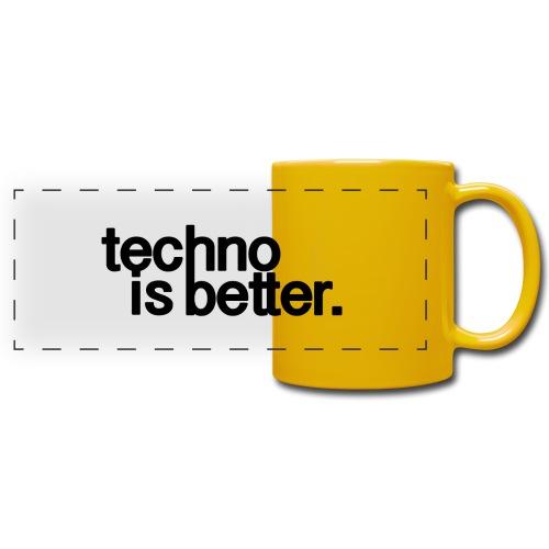 techno is better logo - Kolorowy kubek panoramiczny