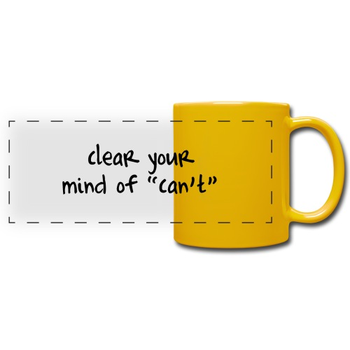 ''Clear your mind of Can't'' Motivational T-shirts - Tazza colorata con vista