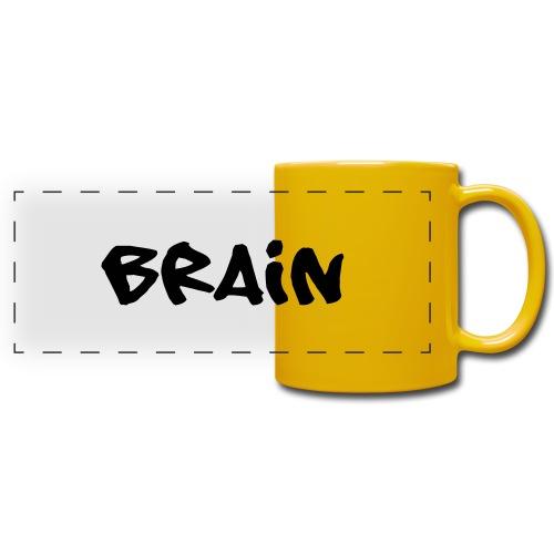 brain schriftzug - Panoramatasse farbig