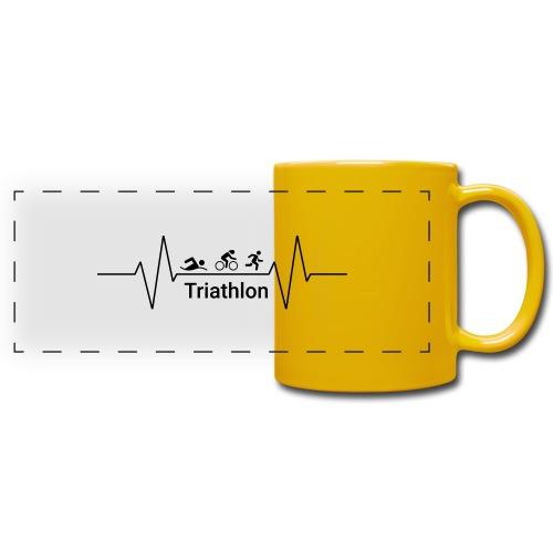 Triathlon Heartbeat - Panoramatasse farbig