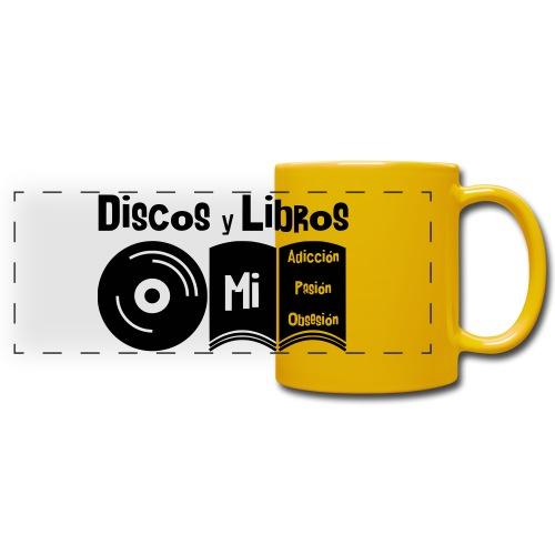 Discos y Libros - Taza panorámica de colores