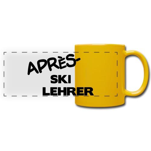 Après Ski Lehrer - Panoramatasse farbig