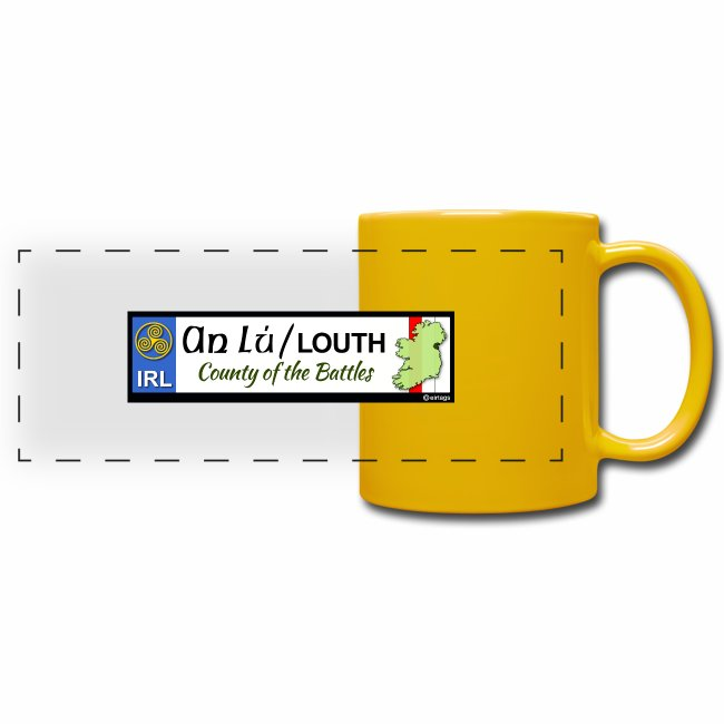 CO. LOUTH, IRELAND: licence plate tag style decal
