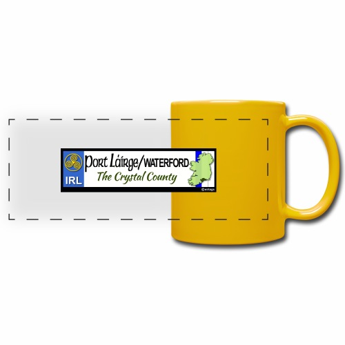 WATERFORD, IRELAND: licence plate tag style decal - Full Color Panoramic Mug