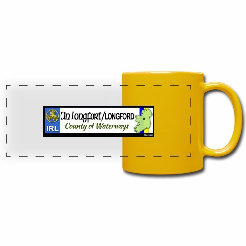 LONGFORD, IRELAND: licence plate tag style decal - Full Color Panoramic Mug