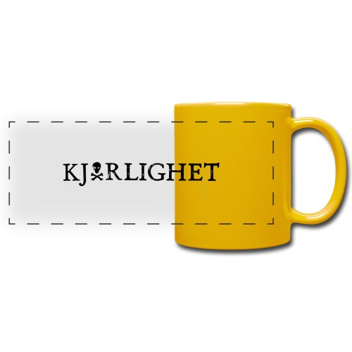 Kjærlighet (Love) | Black Text - Full Color Panoramic Mug