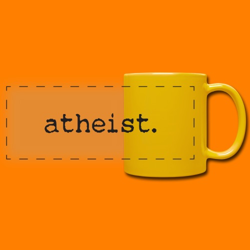 atheist BLACK - Full Colour Panoramic Mug