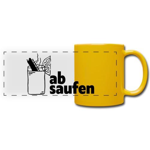 absaufen - Panoramatasse farbig