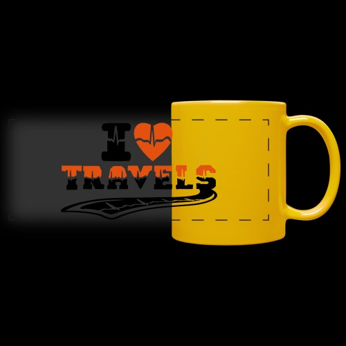 i love travels surprises 2 col - Full Color Panoramic Mug