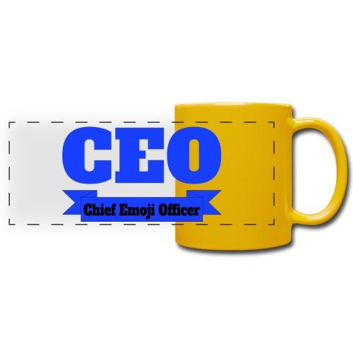 CEO - Chief Emoji Officer - Panoramatasse farbig