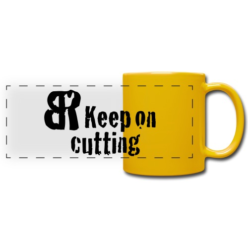 keep on cutting 1 - Panoramatasse farbig