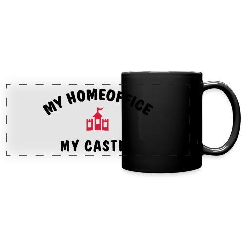 MY HOMEOFFICE MY CASTLE - Panoramatasse farbig