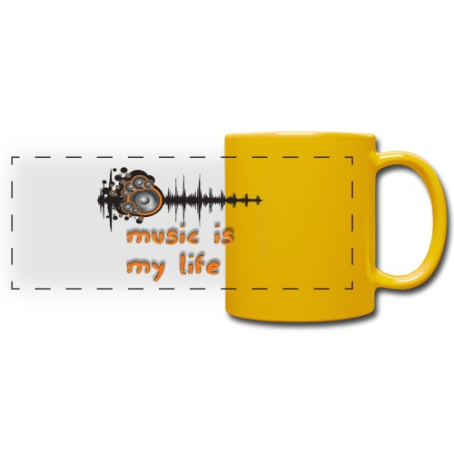 Music is my Life - Tazza colorata con vista