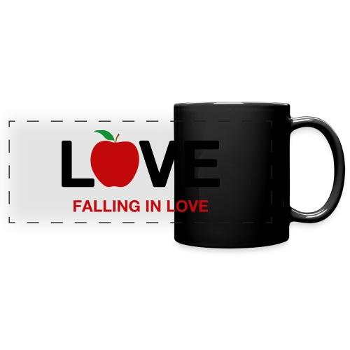 Falling in Love - Black - Full Color Panoramic Mug