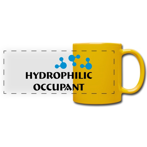 Hydrophilic Occupant (2 colour vector graphic) - Full Colour Panoramic Mug