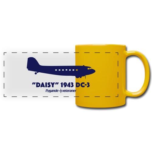 Daisy Silhouette Side 2 - Färgad panoramamugg