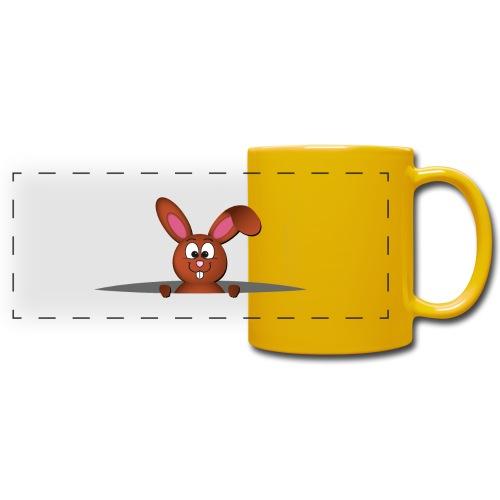 Cute bunny in the pocket - Tazza colorata con vista