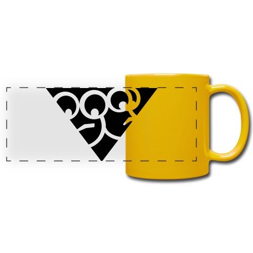 Aussenseiter-Shirt (Schwarz-Gelb) - Panoramatasse farbig