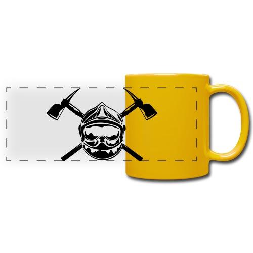 casque_pompier_2 haches - Mug panoramique uni